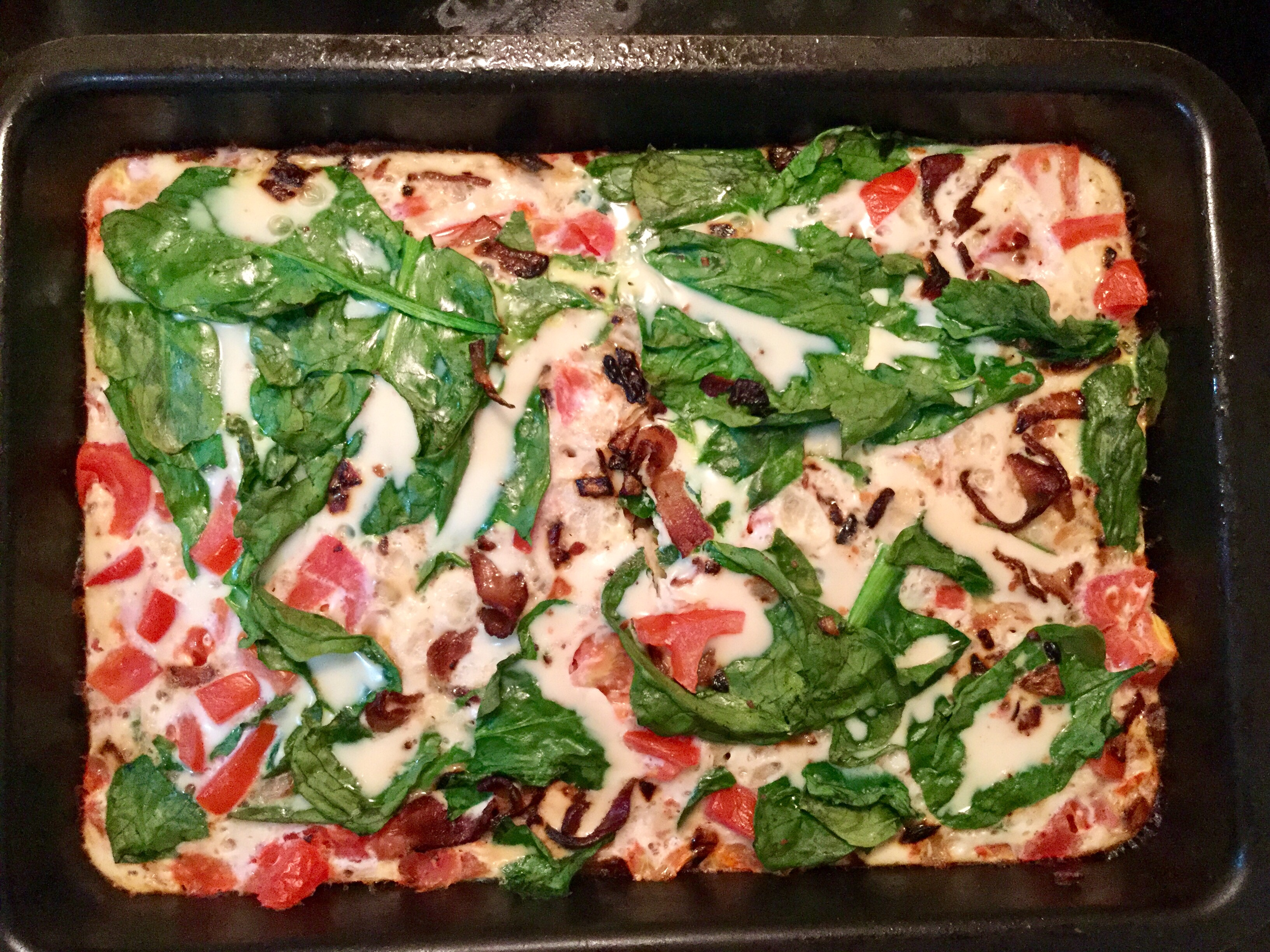 Egg white and Spinach Breakfast Bake